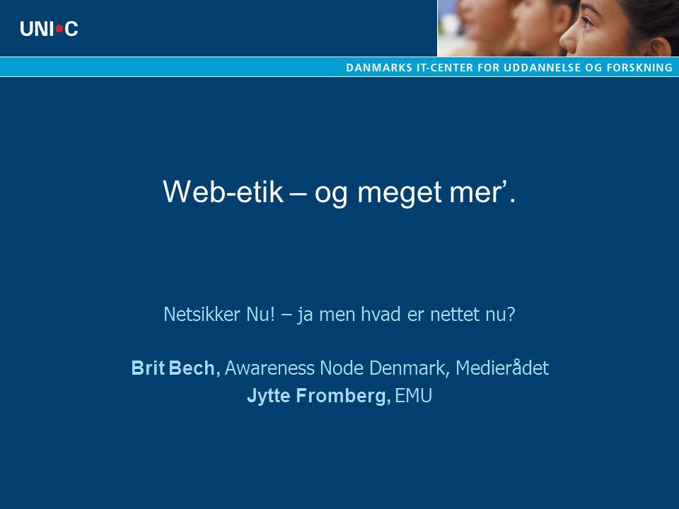 Web-etik – og meget mer'.