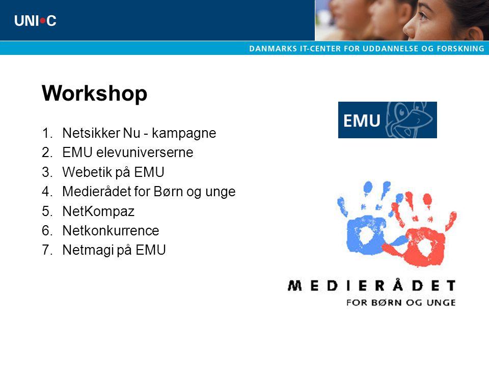 Workshop Netsikker Nu - kampagne EMU elevuniverserne Webetik på EMU