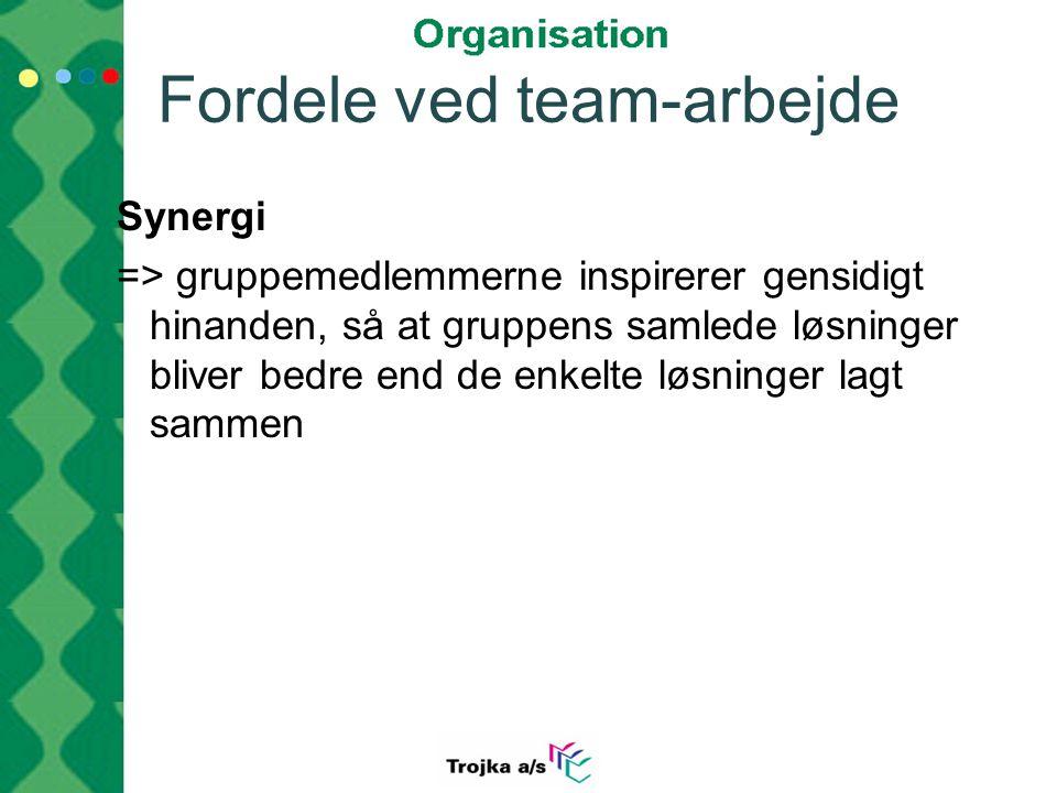 Fordele ved team-arbejde