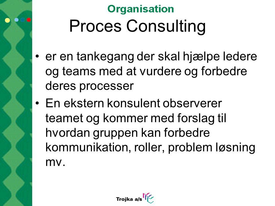 Proces Consulting er en tankegang der skal hjælpe ledere og teams med at vurdere og forbedre deres processer.