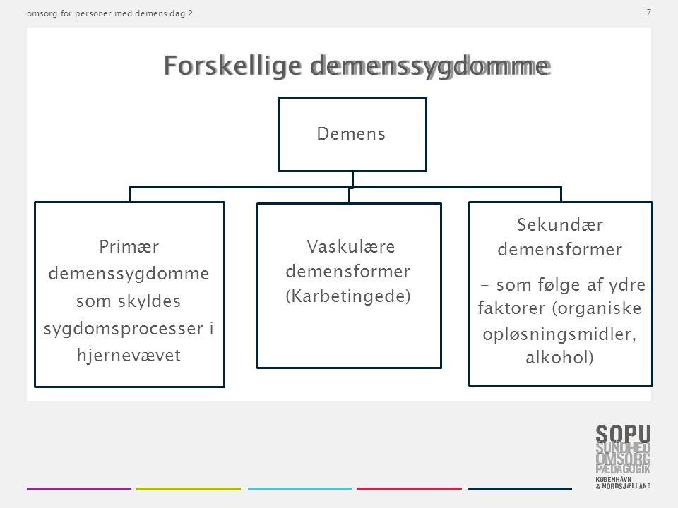 Forskellige demenssygdomme
