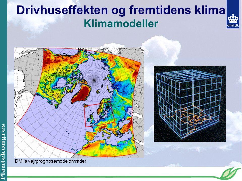Drivhuseffekten og fremtidens klima Klimamodeller