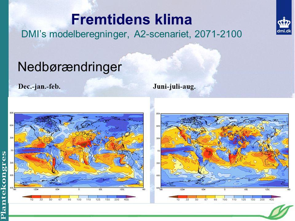 Fremtidens klima DMI's modelberegninger, A2-scenariet, 2071-2100