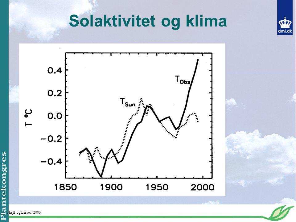 Solaktivitet og klima Thejll og Lassen, 2000