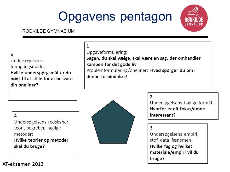 Opgavens pentagon AT-eksamen 2013 1