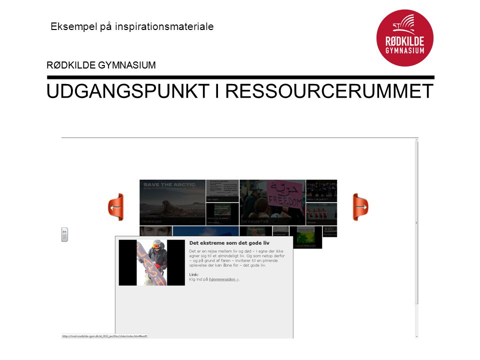 Udgangspunkt i ressourcerummet
