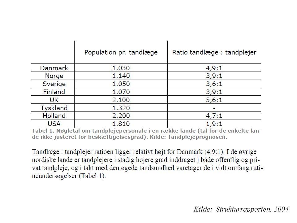 Kilde: Strukturrapporten, 2004