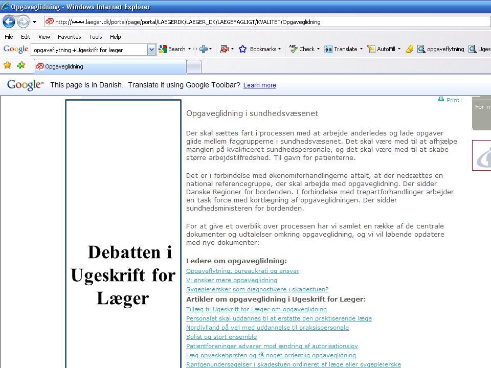 DDebatten i Ugeskrift for Læger