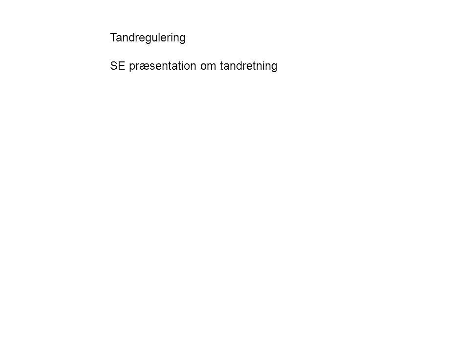 Tandregulering SE præsentation om tandretning