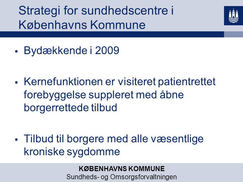 Strategi for sundhedscentre i Københavns Kommune