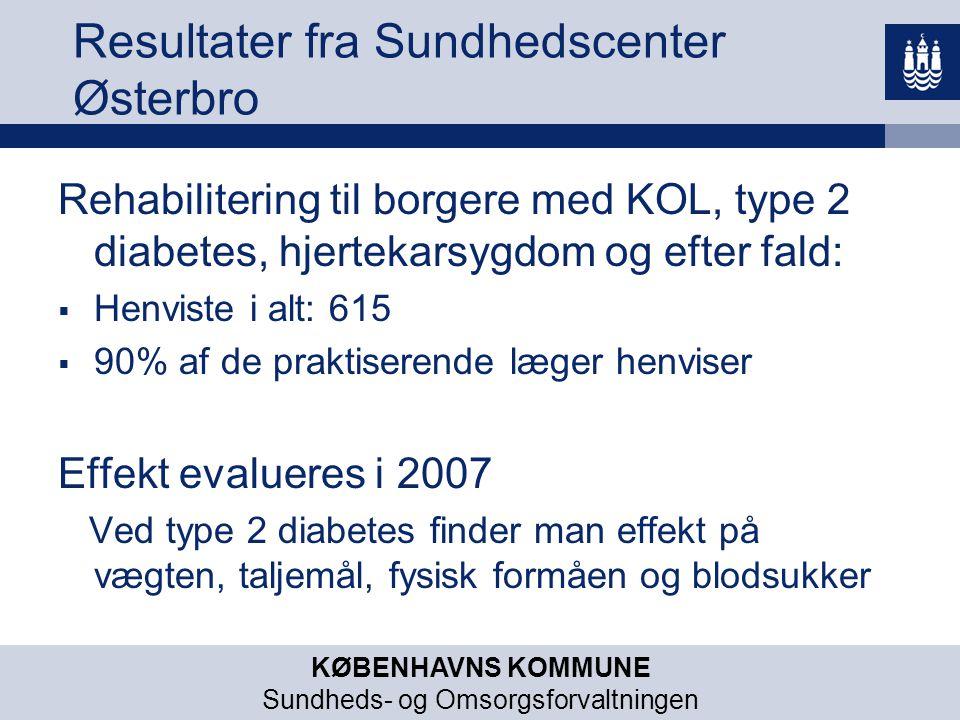 Resultater fra Sundhedscenter Østerbro