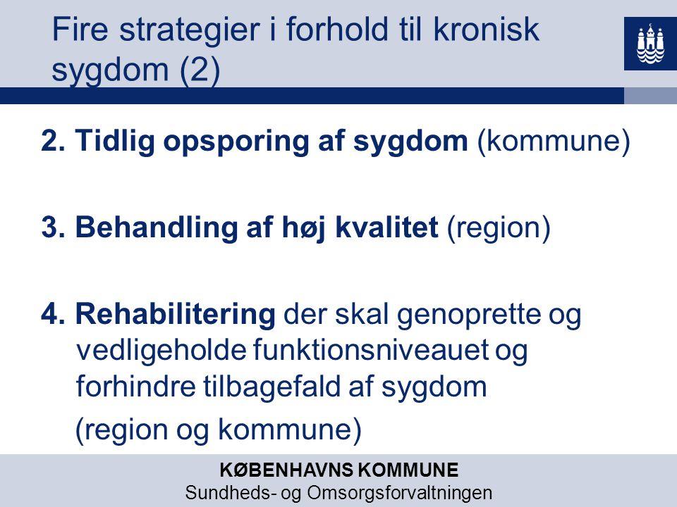Fire strategier i forhold til kronisk sygdom (2)