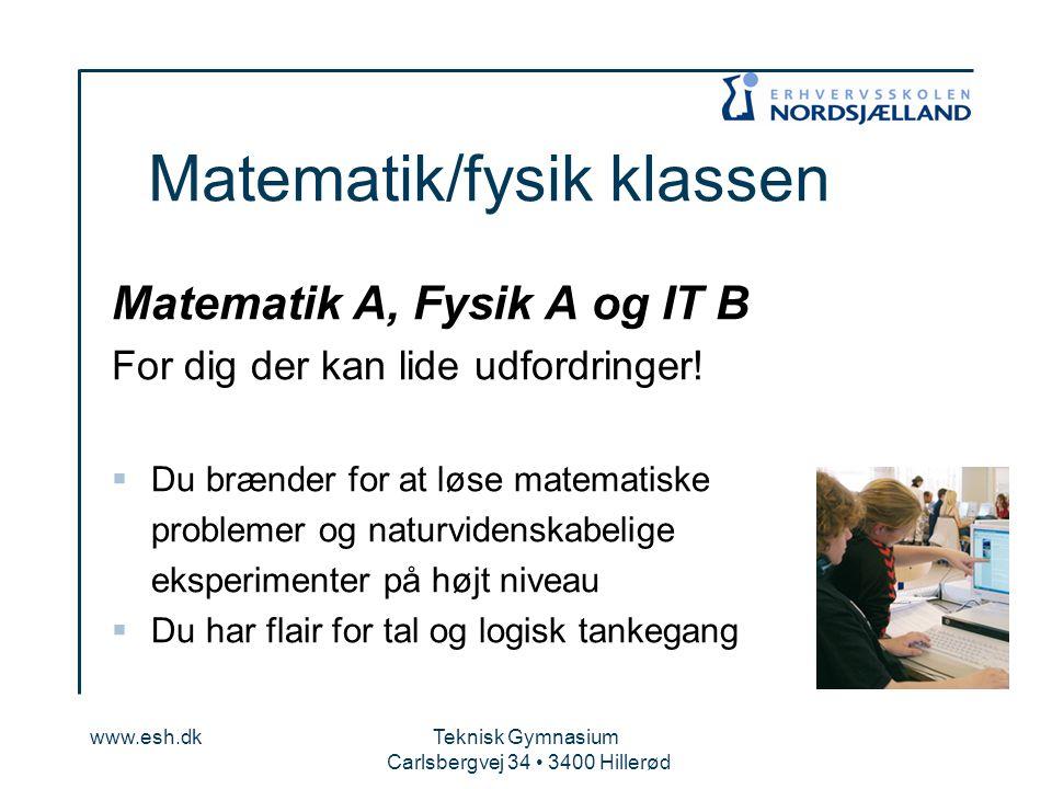 Matematik/fysik klassen
