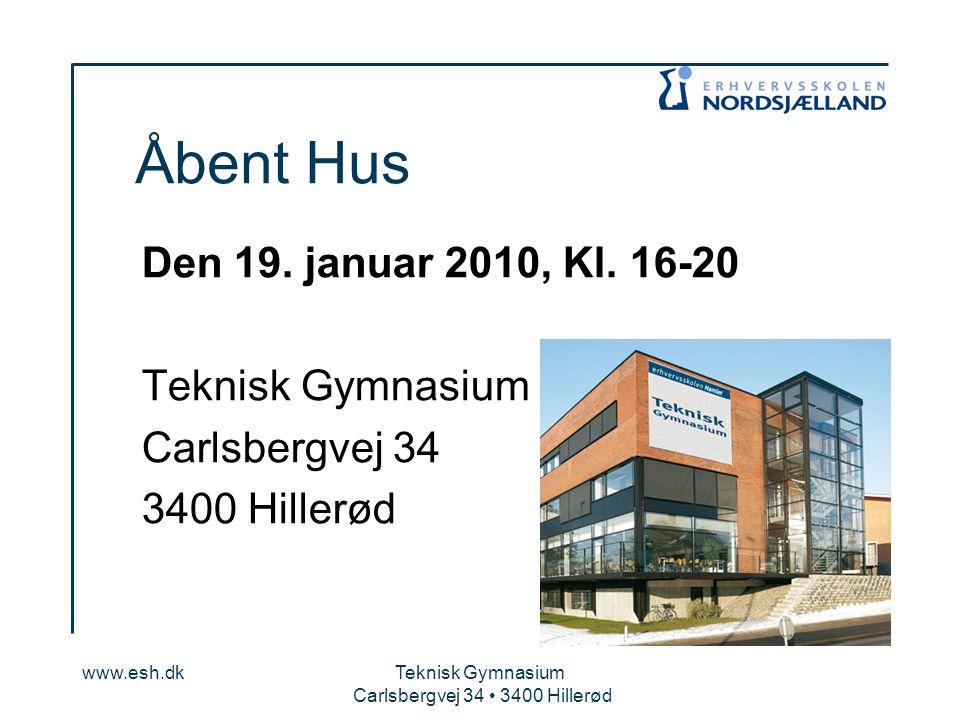 Carlsbergvej 34 • 3400 Hillerød