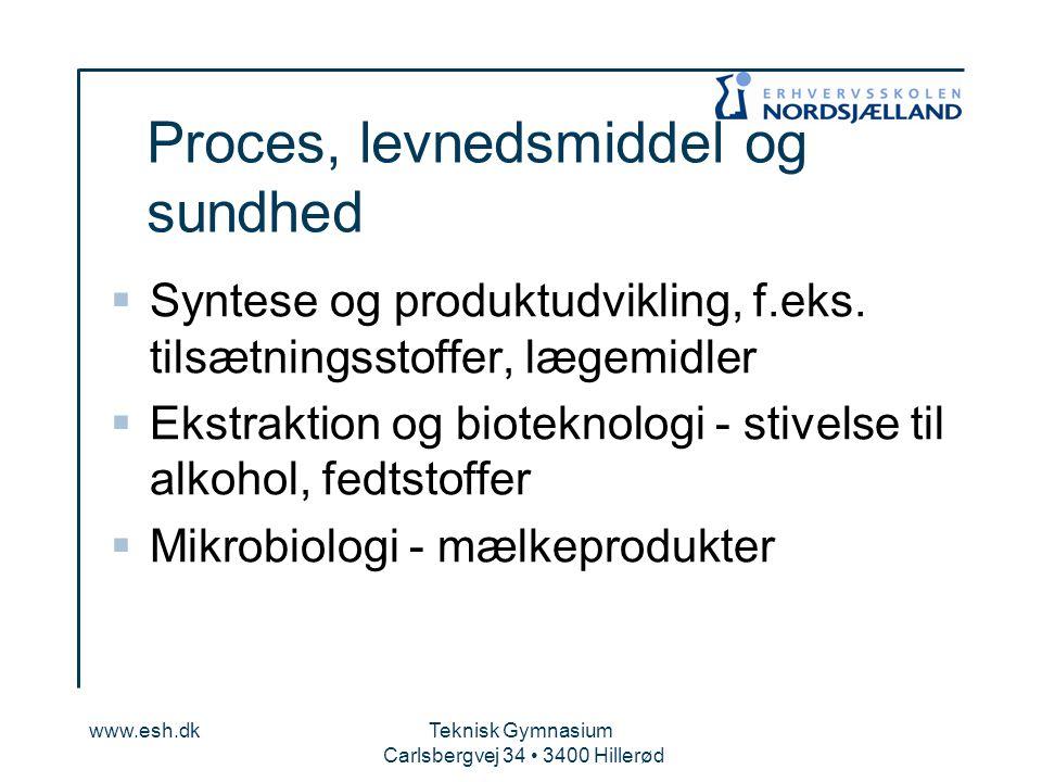 Proces, levnedsmiddel og sundhed