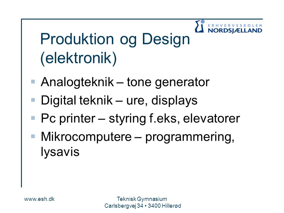 Produktion og Design (elektronik)