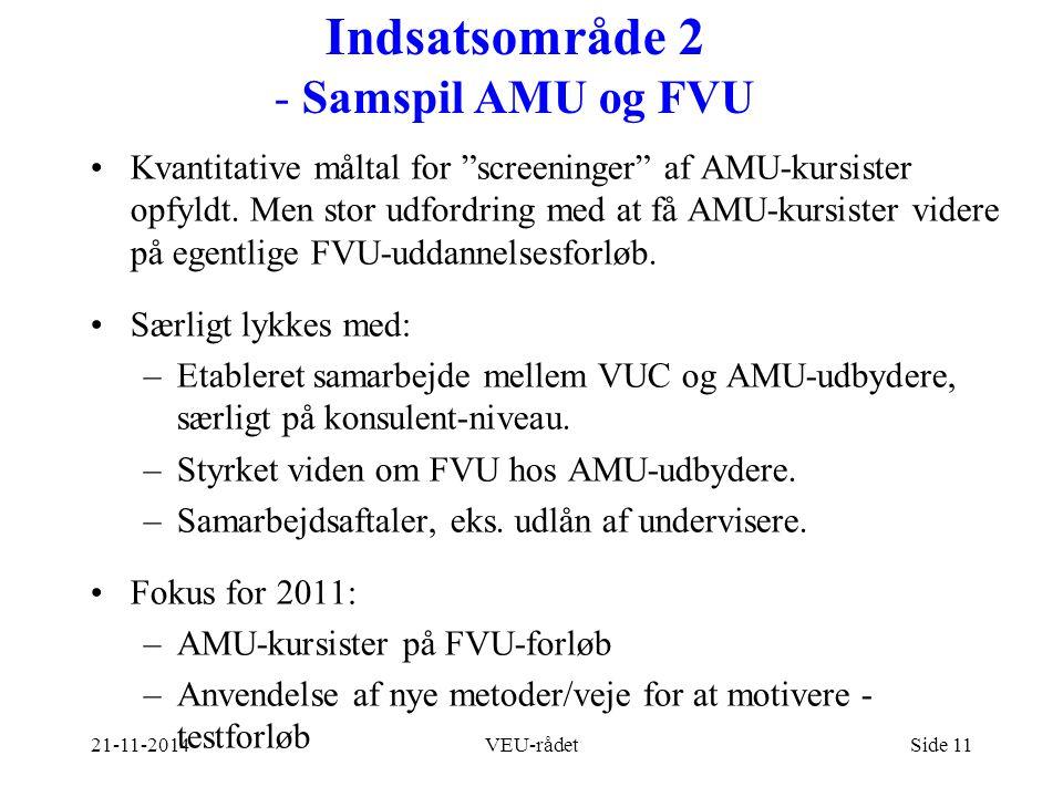 Indsatsområde 2 - Samspil AMU og FVU
