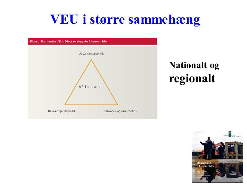 VEU i større sammehæng Nationalt og regionalt