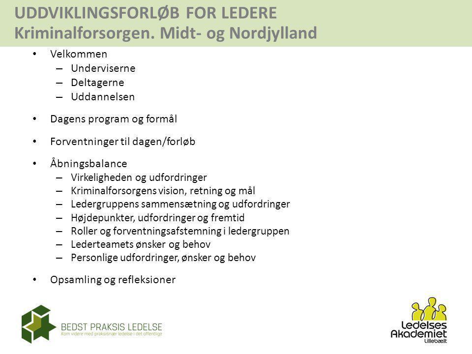 Dagens program og formål Forventninger til dagen/forløb Åbningsbalance
