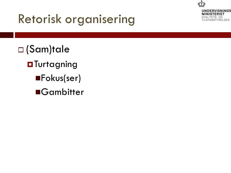 Retorisk organisering