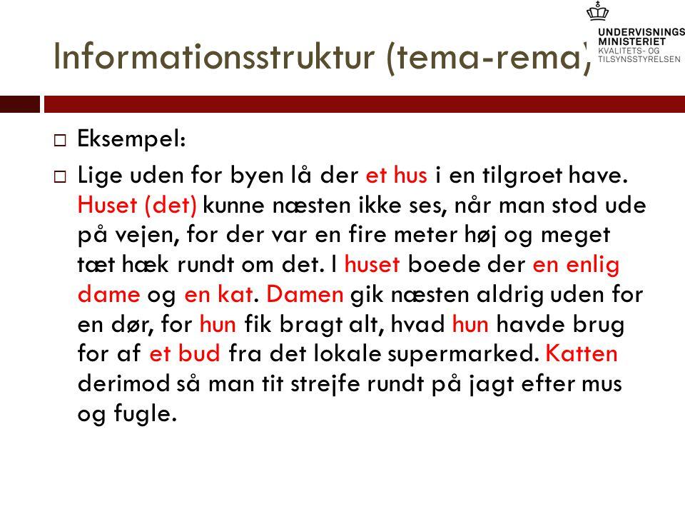 Informationsstruktur (tema-rema)