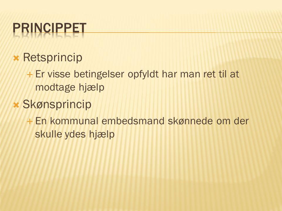 Princippet Retsprincip Skønsprincip