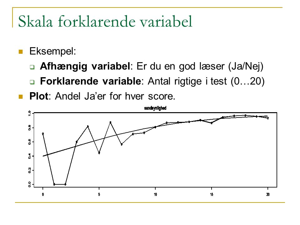 Skala forklarende variabel