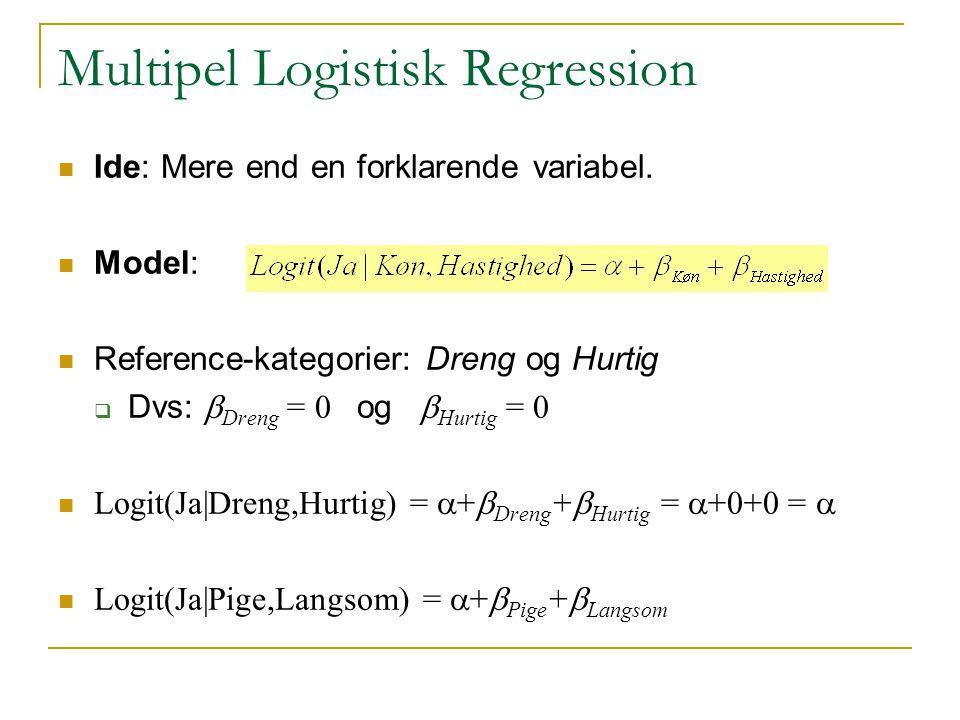 Multipel Logistisk Regression
