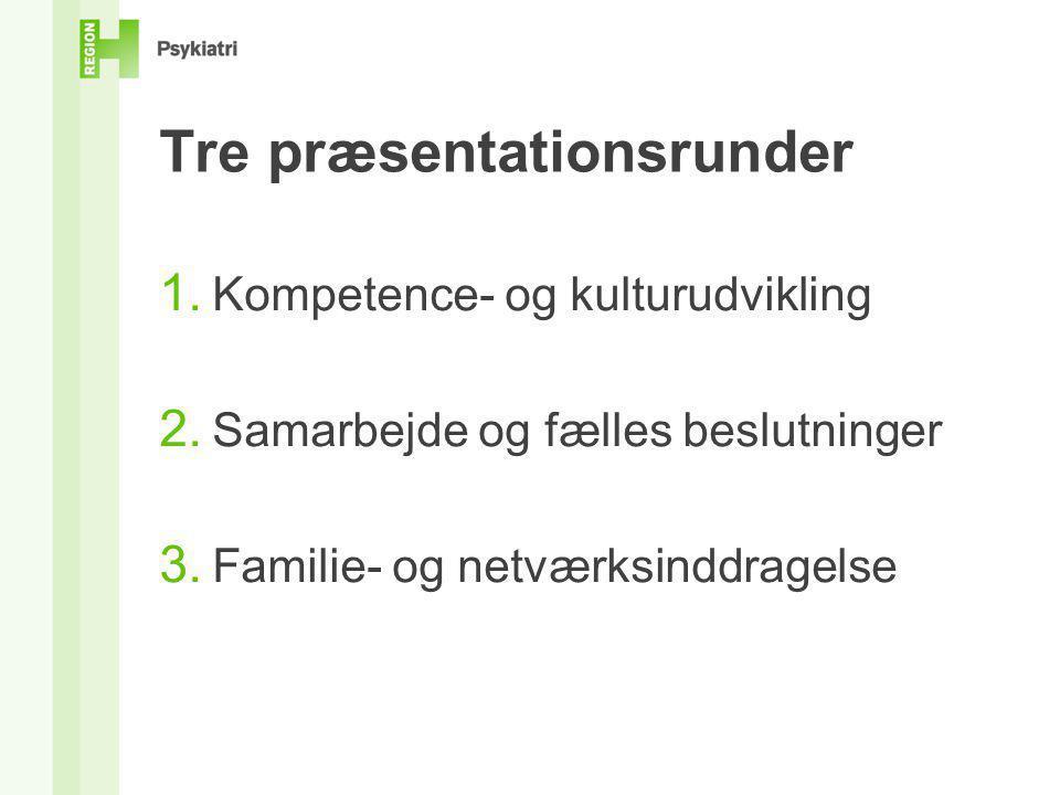Tre præsentationsrunder
