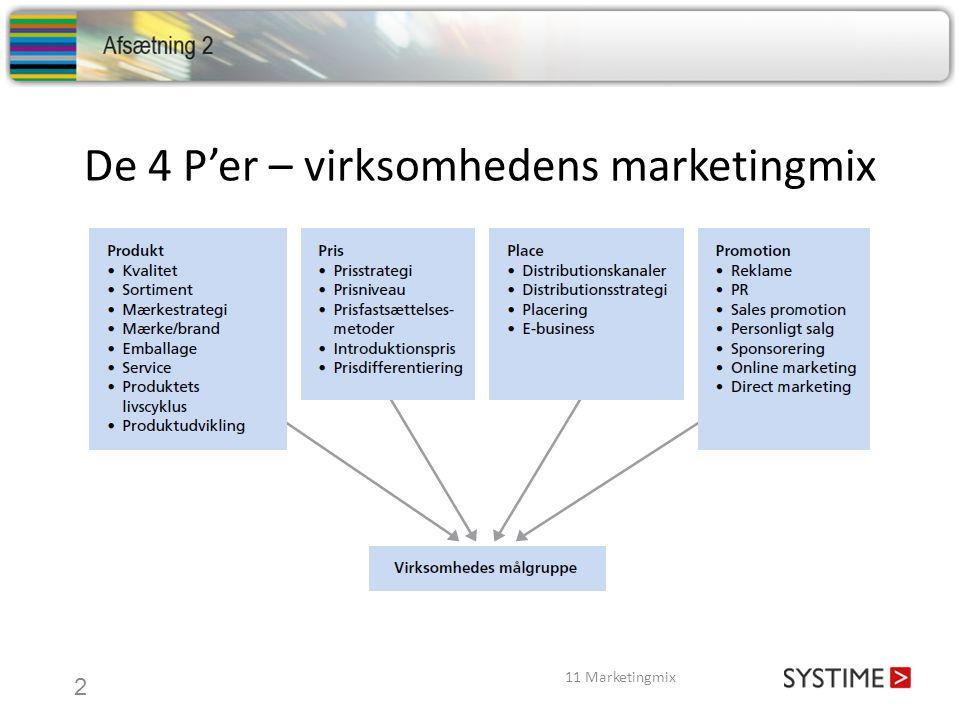 De 4 P'er – virksomhedens marketingmix