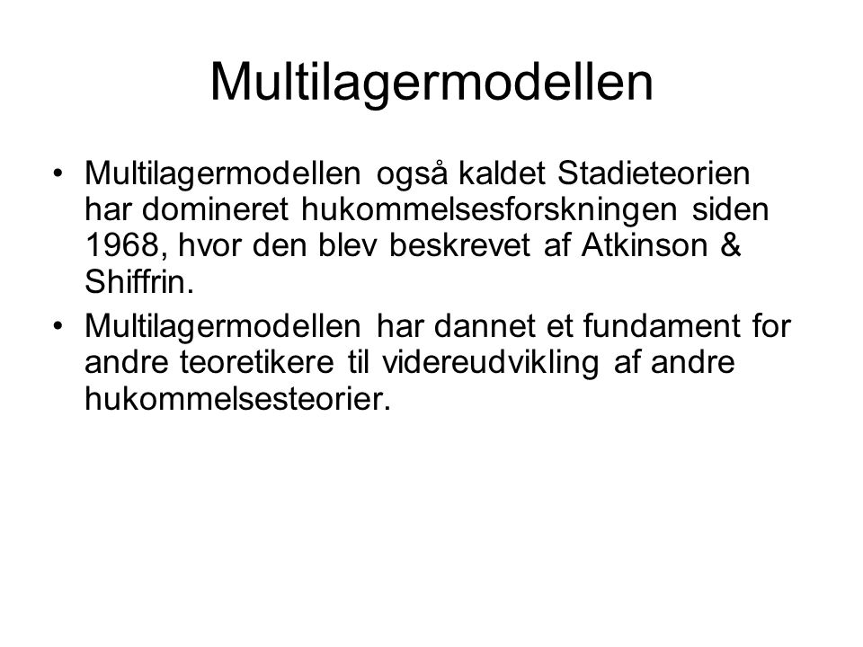 Multilagermodellen