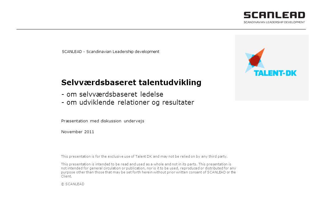 Selvværdsbaseret talentudvikling
