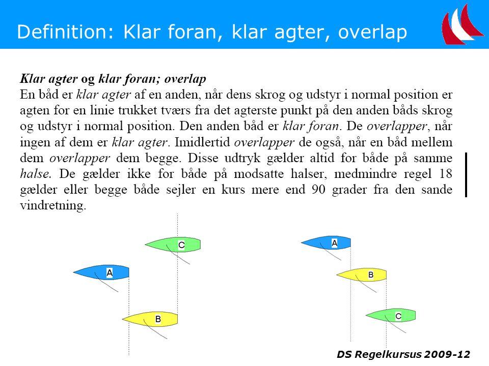 Definition: Klar foran, klar agter, overlap