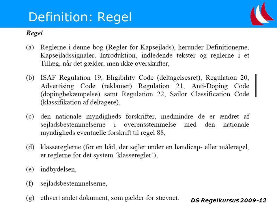 Definition: Regel DS Regelkursus 2009-12