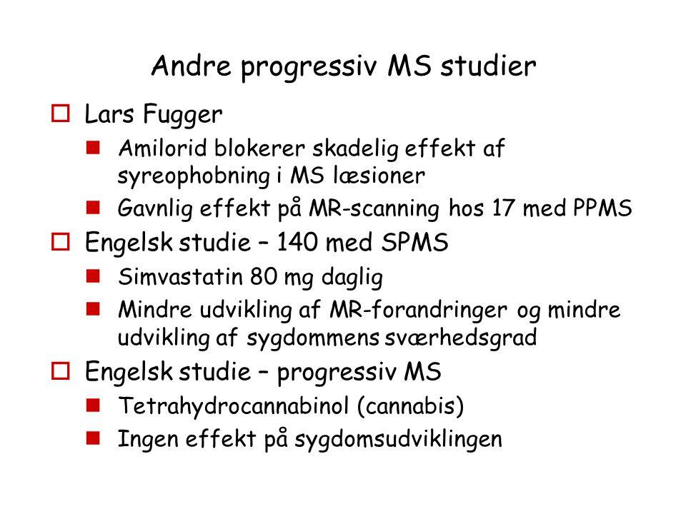 Andre progressiv MS studier