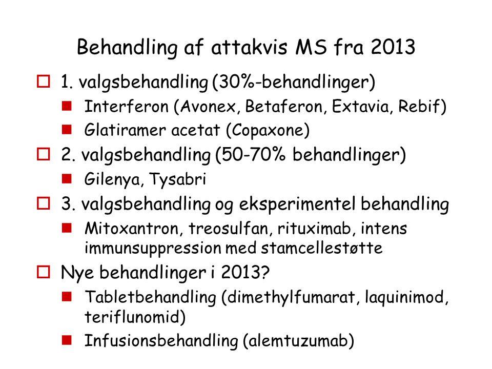 Behandling af attakvis MS fra 2013