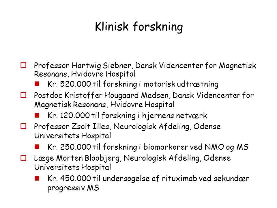 Klinisk forskning Professor Hartwig Siebner, Dansk Videncenter for Magnetisk Resonans, Hvidovre Hospital.