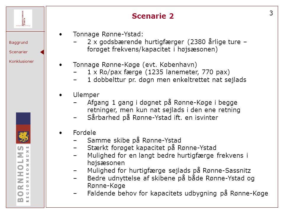 Scenarie 2 3 Tonnage Rønne-Ystad: