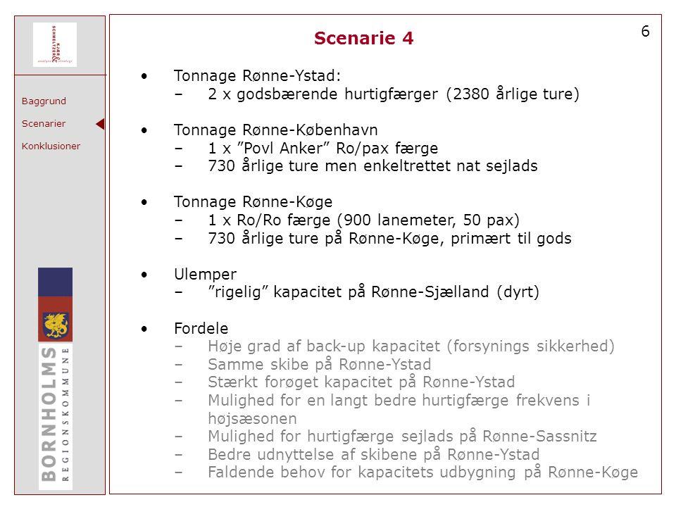 Scenarie 4 6 Tonnage Rønne-Ystad: