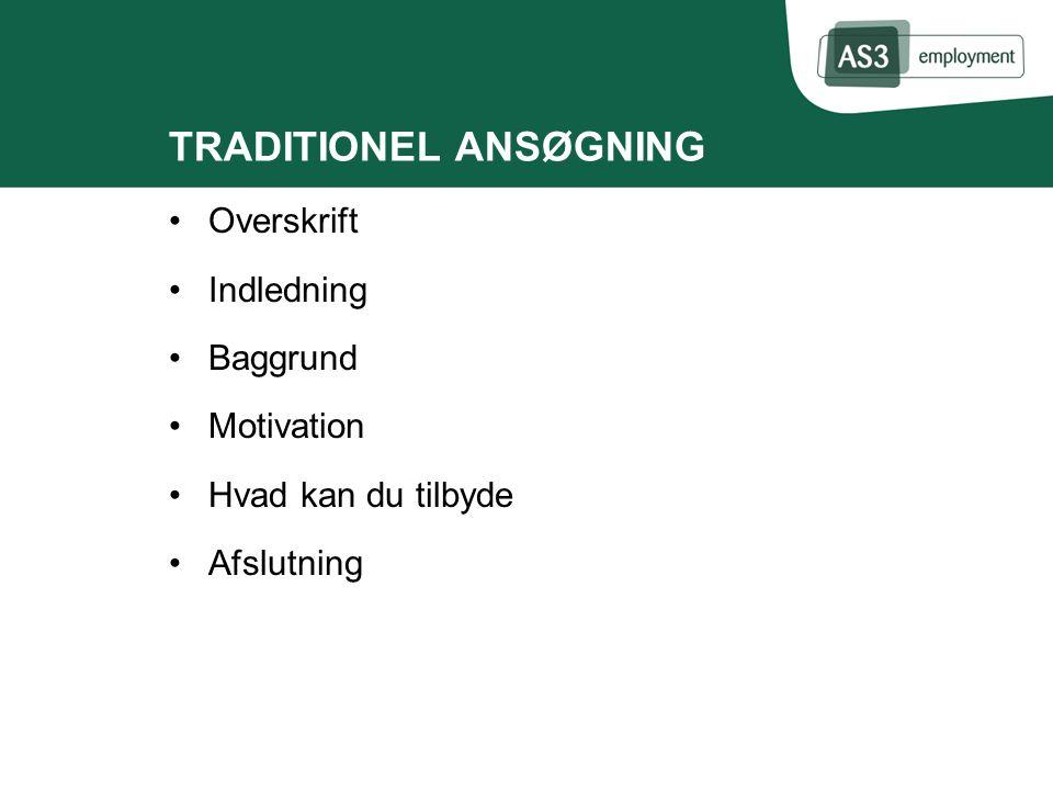 TRADITIONEL ANSØGNING