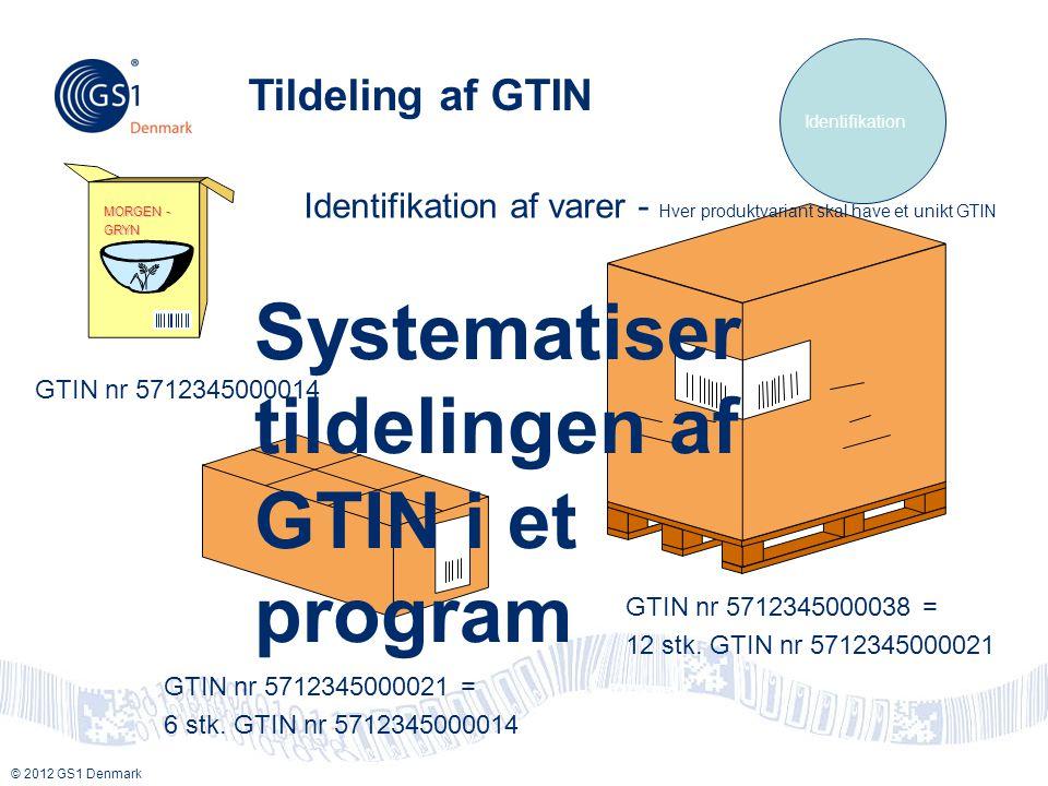 Systematiser tildelingen af GTIN i et program
