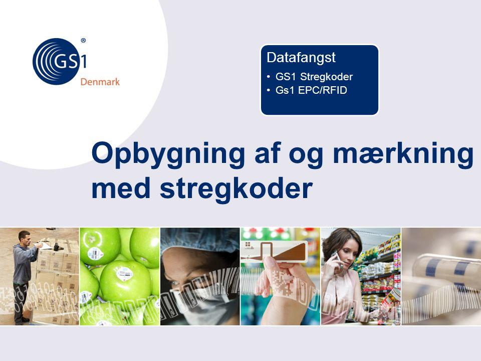Opbygning af og mærkning med stregkoder