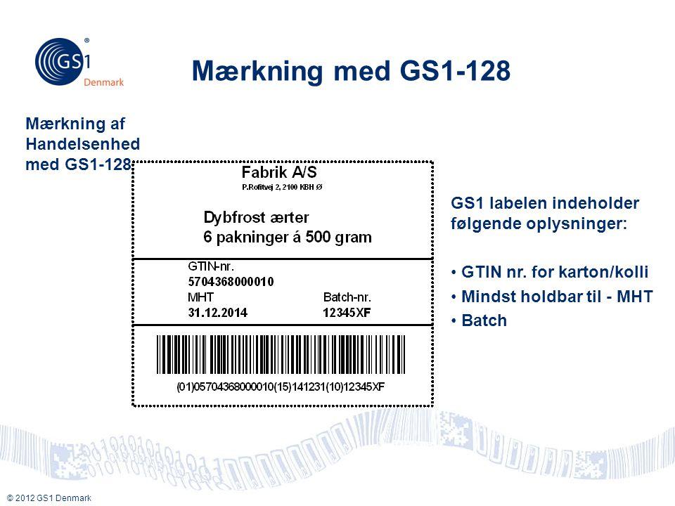 Mærkning med GS1-128 Mærkning af Handelsenhed med GS1-128