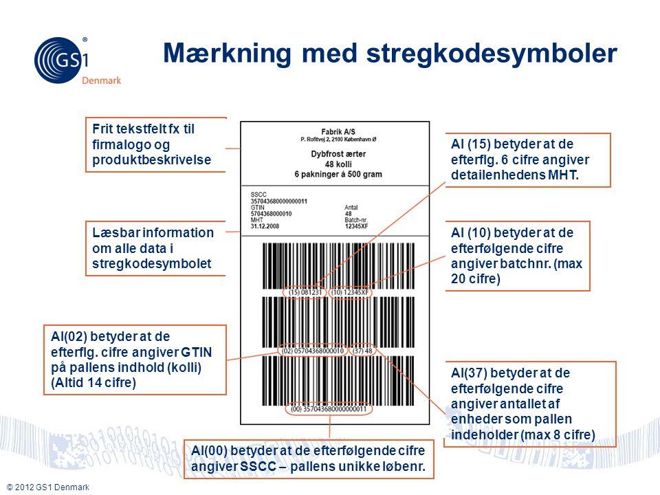 Mærkning med stregkodesymboler