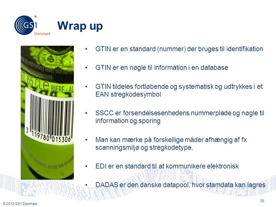 Wrap up GTIN er en standard (nummer) der bruges til identifikation