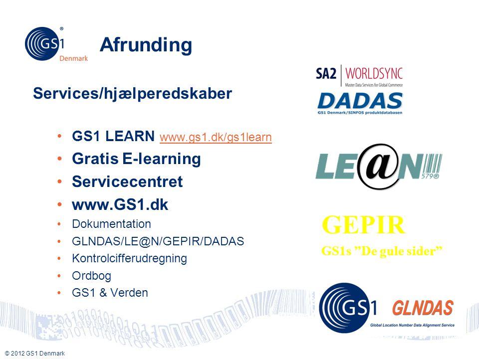 GEPIR Afrunding Services/hjælperedskaber Gratis E-learning