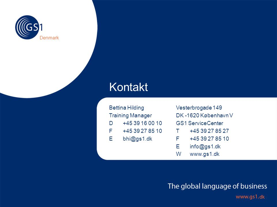 Kontakt Bettina Hilding Training Manager D +45 39 16 00 10