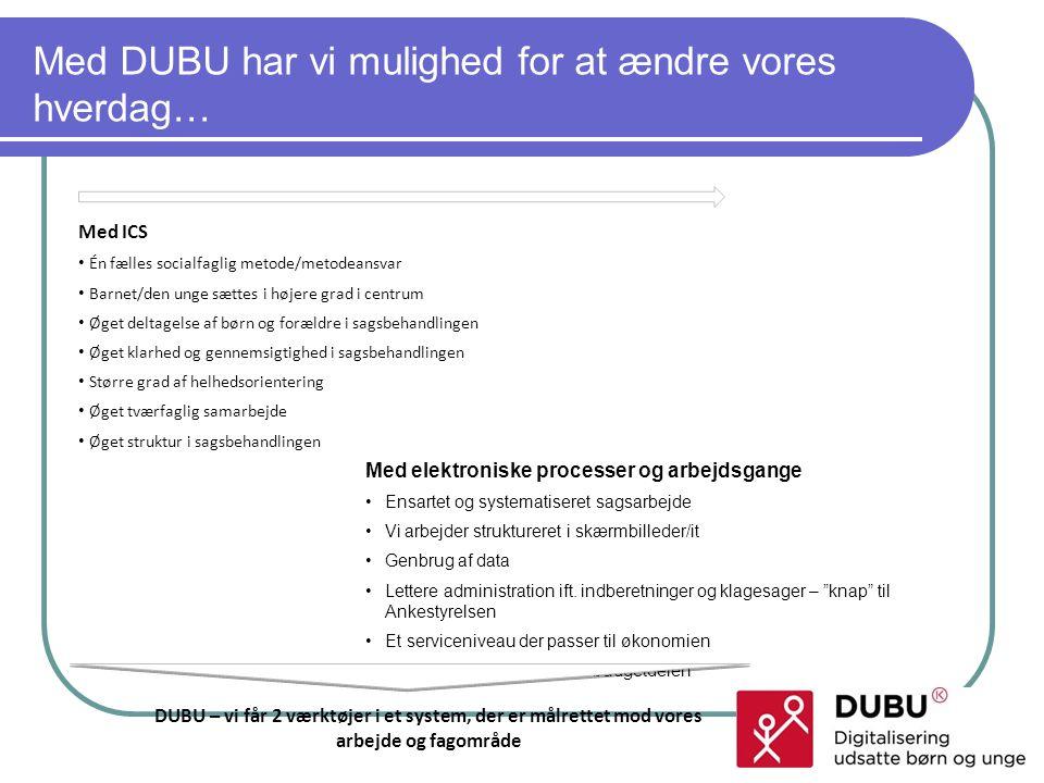 Med DUBU har vi mulighed for at ændre vores hverdag…