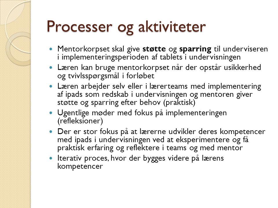 Processer og aktiviteter