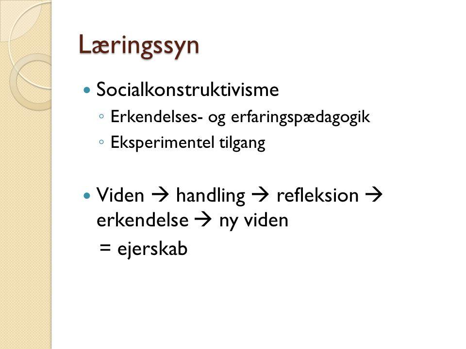 Læringssyn Socialkonstruktivisme